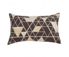 Fodera di cuscino in cotone ricami grafici, 30x50 cm