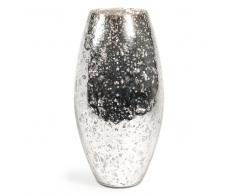 Vaso in vetro a forma di granata A 36 cm STONE SILVER