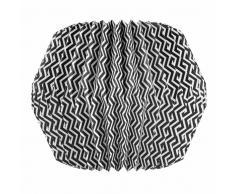 Lampadario nero/bianco origami in carta D 33 cm ZIGZAG