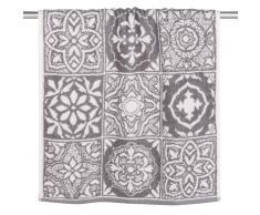 Asciugamano in cotone a motivi piastrelle, 50x100
