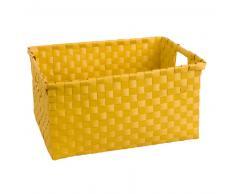 Cestino intrecciato giallo