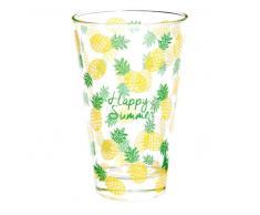 Bicchiere alto in vetro HAPPY PINEAPPLE