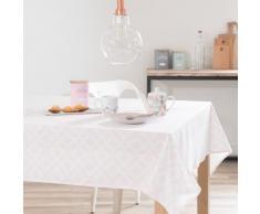 Tovaglia rosa in cotone 150 x 250 cm VERA