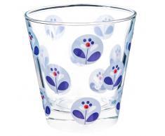 Bicchiere di vetro azzurro CAPRI