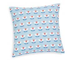 Federa per cuscino in cotone azzurro/bianco 40 x 40 cm ANACAPRI