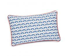 Federa per cuscino in cotone azzurro 30 x 50 cm MESOLA