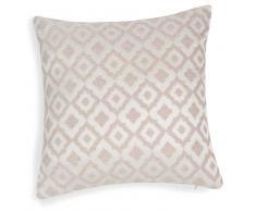 Federa di cuscino in cotone beige con motivi jacquard 40x40 cm TREVISE