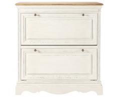 Scarpiera bianca color crema Léontine
