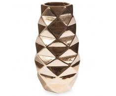 Vaso in ceramica dorata ananas H 23 cm
