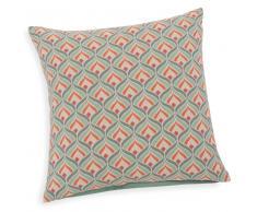 Fodera di cuscino verde in cotone 40 x 40 cm LOIS