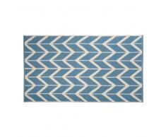 Tappeto blu/écru in cotone 90 x 150 cm PONZA