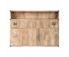 Testata da letto con contenitori in massello di mango L 140 cm Manufacture