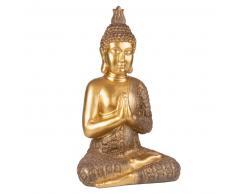 Statua Buddha dorato, h 71 cm