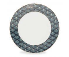 Piatto da dessert blu in porcellana D 20 cm MILORD