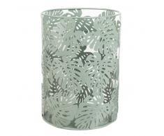 Lanterna in vetro e metallo verde