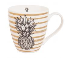 Tazza in porcellana con stampa ananas