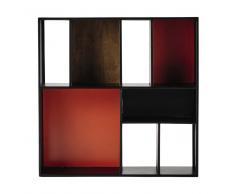 Scaffale da parete nero/arancione in metallo L 85 cm Arty