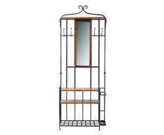 Mobile da ingresso in massello di legno di sheesham con specchio L 83 cm Lubéron
