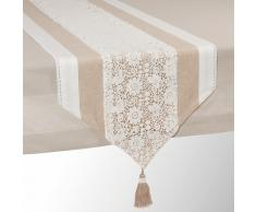Runner da tavolo beige in cotone L 150 cm WONDERFUL