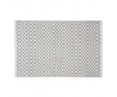 Tappeto in cotone grigio 60 x 90 cm LEIRIA