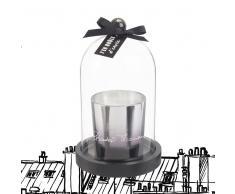 Candela profumata argentata con campana in vetro Chantal Thomass