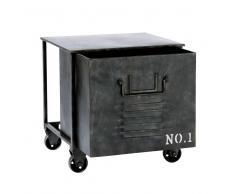 Tavolino da salotto a rotelle stile industriale in metallo L 39 cm EDISON
