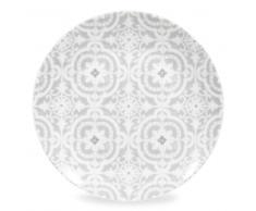 Piatto da dessert grigio in porcellana CHAMBORD