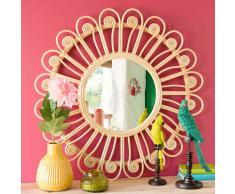 Specchio rotondo in rattan D 90 cm PEACOCK
