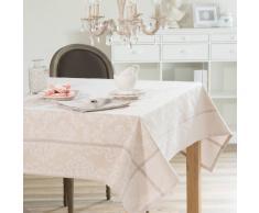 Tovaglia beige in tessuto con lustrini 150 x 250 cm PLESSY