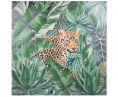 Tela con stampa leopardo, 80x80 cm