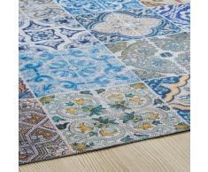 Tappeto in tessuto con motivi a mattonelle di cemento multicolore 150x230cmCAPRI