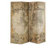 Paravento con stampa cartina antica
