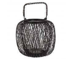Lanterna in fili di metallo nera