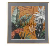 Quadro stampa giungla, 35x35 cm