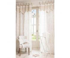 Tenda in cotone e lino beige 100 x 250 cm ASTRO
