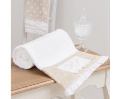 Telo da bagno bianco e beige in cotone 70 x 140 cm SANS SOUCI