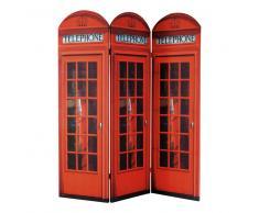 Paravento rosso in legno L 150 cm CABINE UK
