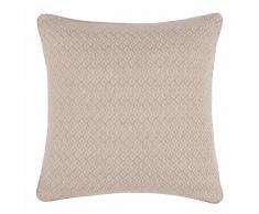 Fodera di cuscino in cotone grigia a motivi, 40x40 cm