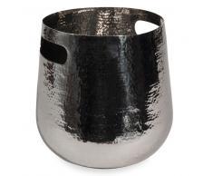 Secchiello da ghiaccio arrotondato in metallo martellato
