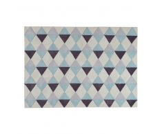 Tappeto blu a pelo corto a motivi grafici 140x200 cm