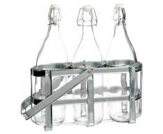 Portabottiglie in zinco 3 bottiglie