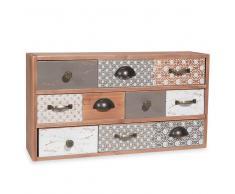 Scatola a 10 cassetti imitazione legno a motivi SANDRINE