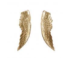 Decorazione da parete ali d'angelo dorate 69x101 cm GABRIELLE