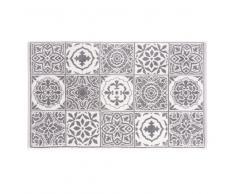 Tappeto da bagno in cotone a motivi piastrelle, 50x80