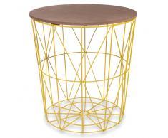 Tavolino da salotto giallo in metallo D 40 cm ZIGZAG