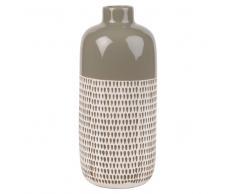 Candela in ceramica talpa con motivi grafici, 30 cm