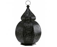 Lanterna orientale nera in metallo cesellato SINBAD