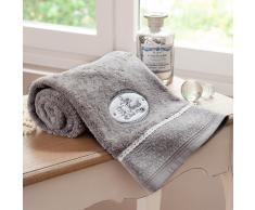 Telo da bagno grigio in cotone 50 x 100 cm JEANNE
