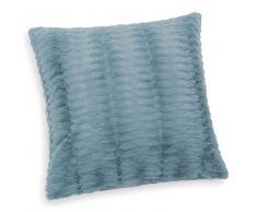 Cuscino blu in simil pelliccia 45 x 45 cm CASSANDRE