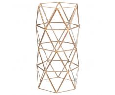 Vaso in vetro e metallo TRIANGLES